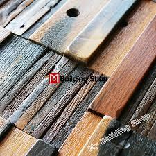 Wholesale Backsplash Tile Kitchen by Interlocking Wood Mosaic Pattern Tile Nwmt170 Rustic Ancient Wood