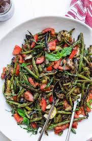 grilled zucchini and green bean salad food faith fitness