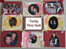 family photo quilt no time for flash cards