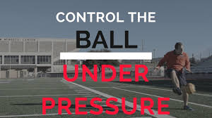 how to control the soccer ball under pressure easy soccer tip