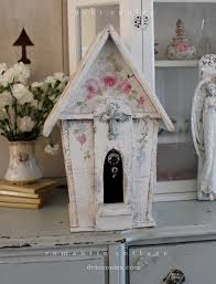 shabby chic large vintage style dove and roses birdhouse debi