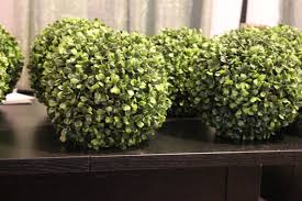 Topiary Balls With Flowers - set of 10 9 inch faux boxwood topiary ball pomander long leaf