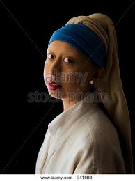 painting the girl with the pearl earring girl pearl earring vermeer stock photos girl pearl earring