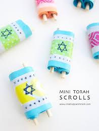 mini torah scrolls craft for simchat torah creative jewish mom