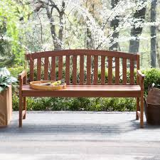 Curved Outdoor Benches Coral Coast Amherst Curved Back Outdoor Wood Garden Bench