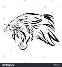 saber tooth tiger fresh vector illustration