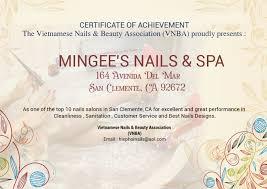 nail salon san clemente nail salon 92672 mingee u0027s nails u0026spa