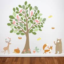 Animal Wall Decals For Nursery by Oak Tree And Animals Woodland Wall Stickers By Parkins Interiors
