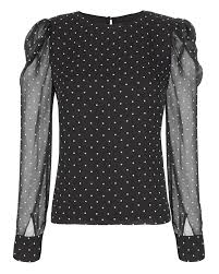 black polka dot blouse alessandra black white polka dot blouse intermix