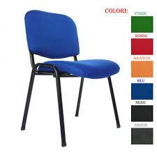 sedie da ufficio economiche cometa sedia ufficio per visitatore in tessuto vari colori