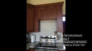 Kitchen Cabinet Clearance Update Ideal Clearance Between Otr Microwave U0026 Stovetop Lowe U0027s