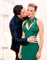 Scarlett Johansson Memes - john travolta kissing scarlett johansson immortalized thanks to