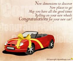congrats on your new card new car congratulations cards