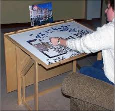 jigsaw puzzle tables portable puzzle pro jigsaw puzzle table archi workshops
