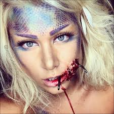 Makeup For Halloween Costumes by Hooked Mermaid Halloween Makeup Tutorial Beeisforbeeauty Http