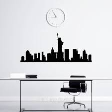 popular new york skyline wall decor buy cheap new york skyline