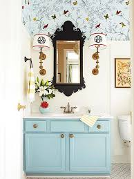Wallpaper For Bathrooms Ideas Colors 252 Best Bold Bathrooms Images On Pinterest Bathroom Ideas Room