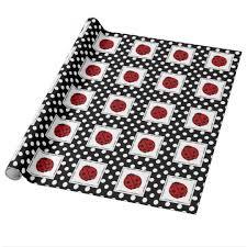 ladybug wrapping paper ladybug and polka dot wrapping paper zazzle