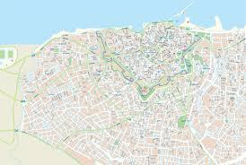 city map visit greece heraklion city