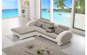 canapé d angle en cuir gris canapé d angle moderne en cuir elios gris et blanc angle