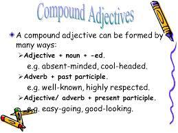 adjectives in sentences compound adjectives cleft sentences ppt
