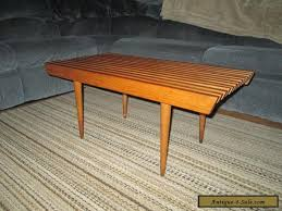 Slat Bench Coffee Table Vintage 36