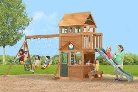 looking at the big backyard southbank wooden play set