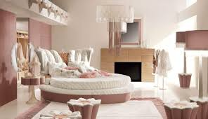 royal bedroom design in soft pink and white with cute chandelier