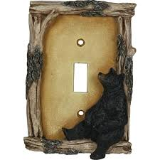 bear light switch covers rivers edge products bear single lightswitch plate cover light