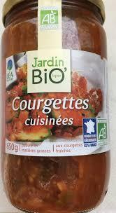 courgettes cuisin s courgettes cuisinées jardin bio 650 g