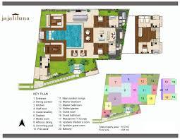 floorplan villa jajaliluna u2013 seminyak 4 bedroom luxury villa bali