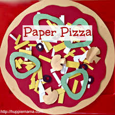 kids food craft paper pizza this as an art project for kids to