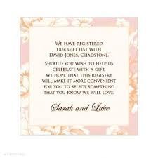 wedding registry gift gift registry wording for wedding invitations paperinvite