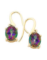 topaz earrings mystic topaz earrings yellow gold mystic topaz earrings 700846