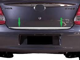Popular Friso de Porta-Mala Toyota Etios Sedan #FO21