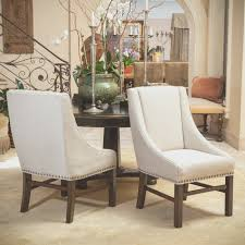 dining room simple white fabric dining room chairs home design