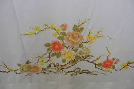 vintage cotton bed sheet floral vintage bed sheet in twin size