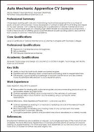 Resume Transferable Skills Examples by Auto Mechanic Apprentice Cv Sample Myperfectcv