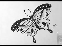 how to draw beautiful drawing how to draw a beautiful butterfly with sketch pen yzarts