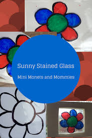 mini monets and mommies sunny kids u0027 art mock stained glass