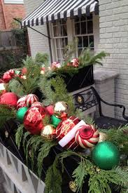 Outdoor Hanging Christmas Decorations Exterior Decorative Wooden Fence Panels With Brown Color Also
