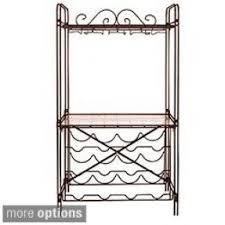 Bakers Rack With Wine Glass Holder Cast Iron Bakers Rack Foter