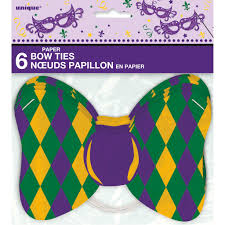 mardi gras bow ties masquerade mardi gras paper bow tie accessories mardi gras party