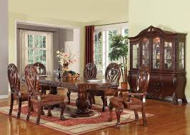 Oval Pedestal Dining Room Table Acme Acme Quinlan 7pc Oval Shaped Pedestal Dining Room Set