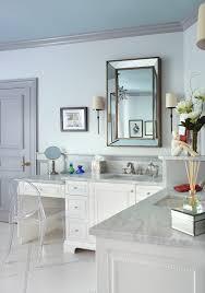 White Floor L Longer Vanity With L Shaped Vanity In The Bathroom Decohoms