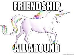 Unicorn Meme Generator - friendship all around rainbow unicorn meme generator