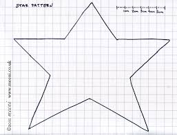 free primitive star template paper pricking free patterns sports