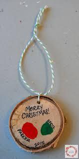 a glimpse inside rustic thumbprint keepsake ornament