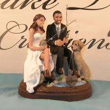 fishing wedding cake toppers wedding cakes deer fishing wedding cake toppers