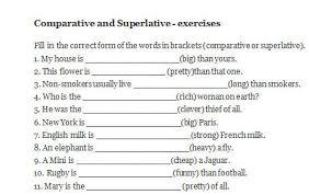 and superlative